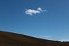 Cotton Wool Over a Slope (Pierre PRESTAT) Tags: bluesky brown cloud cottonwool hill horizon land landscapes minimalist ploughing plowing simple slope soil vapor