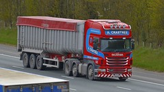 PX12 NYB (panmanstan) Tags: scania r420 wagon truck lorry commercial bulk freight transport haulage vehicle a1m fairburn yorkshire