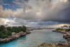 (251/18) Ciudadela en la lejanía (Pablo Arias) Tags: pabloarias photoshop photomatix capturenxd españa cielo nubes arquitectura mar agua mediterráneo ciudad ciudadela menorca
