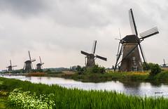 Mühlen - Mills - Molens (achim-51) Tags: mühle mühlen mills molens kinderdijk niederlande panasonic lumix dmcg5 wasser grün
