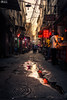 XI'AN, CHINA - MAY 14, 2018: Afternoon Sunset over a Chinese Urb (HunterBliss) Tags: alley alleyway architecture area arts asia asian building china chinese city cityscape craft crafts destination downtown enclave famous fang former french fuzhou house landmark lantern life narrow night old people popular residential road scene scenery shanghai shopping singapore site street tianzi tianzifang tourism tourist touristic town traditional travel urban view
