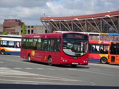 trent barton 605 Mansfield (Guy Arab UF) Tags: trent barton 605 fj03vvs scania l94ub wright solar mansfield bus station nottinghamshire wellglade buses wellgladegroup