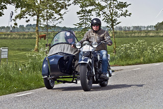 Harley-Davidson Knucklehead with sidecar 1947 (0109)