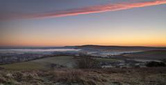 Low lying (Through Bri`s Lens) Tags: sussexdowns adurvalley riveradur sunrise farm farmer sheep cows cloud brianspicer canon5dmk3 canon1635f4 lee09softgrad
