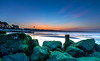 Dawn Rocks (nicklucas2) Tags: seascape beach beachhut avonbeach mudeford dorset sunrise groyne lowtide