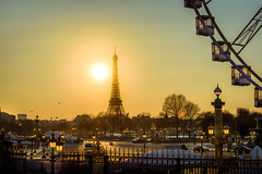 Eiffel Tower, Paris (Re-created) (Peter J. Photo) Tags: paris seine river france capital europe town sunset dark landscape architecture gold sky sunny wheel street view evening monument history traffic people water city tree park building skyline sea dusk boat night