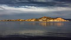 7208  Morning Light (foxxyg2) Tags: water sea aegean blue sky clouds sunrise naxos agiosgeorgios cyclades greece greekislands islandhopping islandlife grey