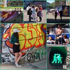 Wien - Vienna - streetlife (Der Kremser) Tags: wien vienna street streetlife life menschen people mai may 2018 strasenleben leben leute europa europe eu österreich austria donaukanal nikon nikond40x collage girls mädchen ampel
