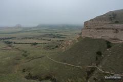 Summit Trail (kevin-palmer) Tags: may spring nikond750 cloudy overcast nebraska scottsbluff scottsbluffnationalmonument nationalmonument oregontrail trail path tamron2470mmf28 fog foggy panhandle sandstone