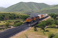 UP 6ICHSTJ-04 (caltrain927) Tags: union pacific railroad bnsf railway burlington northern santa fe loaded intermodal double stack container train ge es44c4 c4 gevo ac dash 944cw c449w bena california