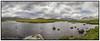 Black Mount Panorama Scotland. (Adrian Walker.) Tags: elements panorama pano scotland blackmount clouds sky loch lake canon80d tamron18270 nikefex hills mountians rocks
