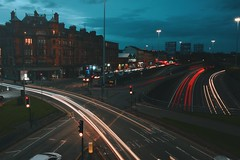Light Trails at Charing Cross (Alexis Kaylen) Tags: alexis kaylen photography landscape cityscape light trails long exposure shutter speed traffic glasgow scotland charing cross