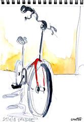 Mon vélo ! (Croctoo) Tags: croctoo croctoofr croquis crayon aquarelle watercolor bicyclette biclou vélo velo