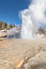 Grand Geyser eruption opening day 2018 (portrait) (YellowstoneNPS) Tags: grandgeyser uppergeyserbasin ynp yellowstone yellowstonenationalpark construction geyser spring