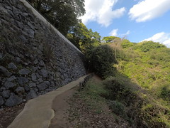Ote vNE wall _orig_LG (Hazbones) Tags: iwakuni yamaguchi yokoyama castle kikkawa suo chugoku mori honmaru ninomaru demaru wall armor samurai spear teppo gun matchlock map ropeway