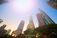 Quite the Night (Andy Brandl (PhotonMix)) Tags: city night skyscrapers modern china shanghai pudong photonmix
