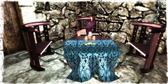 FF 2018 - Partners in Crime - Eklund Table Set {Teal} (partnersincrime.sl) Tags: partnersincrime partners crime pic table set furnitures dining living teal wood wooden eklund sl secondlife fantasy faire fair 2018 ff relay for life relayforlife rfl cancer fightcancer support medieval elf elves elven avatar avatars fae faes drow mermaid creature creatures creator creators fairelands fairlanders enthusiasts garden deco decorations fundraise