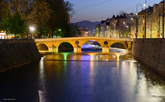 Latin Bridge (Laszlo Horvath.) Tags: latin bridge blue hour sarajevo nikond7100 nikon50mmf18g bosniahercegovina