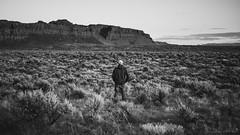 Step Into My World (Chris Lakoduk) Tags: sagebrush desertsage landscapephotography selfie inspirational blackandwhite monochrome photography land nature basalt bluffs frenchmancoulee grantcounty