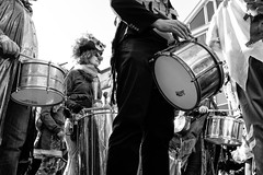 The drums of my heart (gambajo) Tags: 1year1town1lens brühl blackandwhite blackwhite black white people public outdoors street streetphotography drums music musicans carnival karneval disguise costume costumes verkleidung verkleidet menschen trommel musik musikinstrument instrument trommeln parade