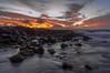 Fire in the Sky (michaelheiner) Tags: colors hawaiian fire rock water honolulu ngc sandy beach sunrise oahu hawaii ocean pacific sandybeach seascape sky clouds landscape nikon sea shoreline