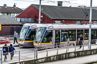 DRIMINAGH LUAS TRAM STOP [THE GOLDENBRIDGE CEMETERY IS ON THE OTHER SIDE OF THE FOOTBRIDGE]-139174