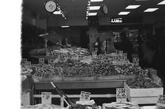Fish are Freaky (3blondmice) Tags: black white minolta srt 201 nyc new york city grain bw kodak vintage analog 35mm film keep alive is dead chinatown fish market manhattan