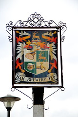 Pub sign for the Ham Brewery Tap. (Peter Anthony Gorman) Tags: hambrewerytap pubsigns coatofarms