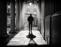 light (Daz Smith) Tags: dazsmith fujixt20 fuji xt20 andwhite bath city streetphotography people candid portrait citylife thecity urban streets uk monochrome blancoynegro blackandwhite mono sunlight man ligh walking silhouette