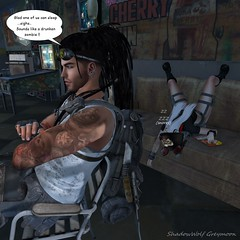 RAV PASSED OUT FROM KILLIN WOMBIES..3 (Ravynn Irelund) Tags: comic book apocalypse second life
