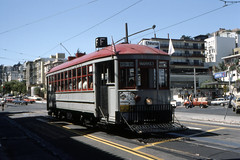 US CA San Francisco MUNI 1 9-1983 (David Pirmann) Tags: california sanfrancisco muni tram trolley streetcar transit railroad transportation