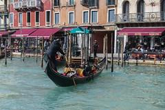 Leaving the Hotel (Rudi Pauwels) Tags: italy italien italia venice venezia venedig spring2011 water canal grancanal gondola gondoliero tour hotelmarconi sunny nikon d80 nikond80