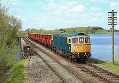 33035, Swithland Reservoir, 3 May 2018 (Mr Joseph Bloggs) Tags: gc gcr great central railway 33 33035 035 brcw crompton railroad bahn preserved train treno freight cargo emrps east midlands photographic society pole polephotography