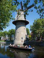 20180515-001 Schiedam windmill with boat (SeimenBurum) Tags: schiedam windmill