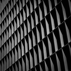 facade (morbs06) Tags: fletcherpriestarchitects london newludgate abstract architecture building bw city cladding facade geometry highcontrast light lines pattern repetition shadow square stripes texture