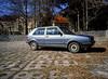 Kowary, Poland. (wojszyca) Tags: fuji gsw 680iii 6x8 120 mediumformatfujinon65mmgossenluna pro sbc kodak ektachrome e100g car auto carspotting soloparking volkswagen golf parking lot