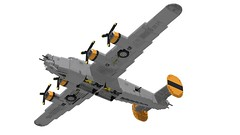 Lego B-24J Liberator - Bungay Brickaroo 11 (Lt. SPAZ) Tags: consolidated b24 b24j liberator bomber aviation wwii war lego moc airplane 446th usaaf bungay brickaroo allies