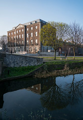 Canal -  Dublin, Ireland (ChrisGoldNY) Tags: chrisgoldphoto chrisgoldny chrisgoldberg albumcover bookcover licensing forsale sony sonyimages sonyalpha sonya7rii ireland irish dublin architecture buildings water reflections canal