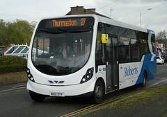Roberts Travel Wright Streetlite (DB) - MX12 DYY (J.J.Pay 4615) Tags: mx12dyy syston bus midlands transport uk wrightbus