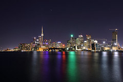 Toronto Skyline at Night (lfeng1014) Tags: torontoskylineatnight toronto canada skyline cityscape atnight waterfront cntower reflection lights buildings landscape canon5dmarkiii ef1635mmf28liiusm longexposure 110seconds lifeng torontostrong