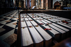 Hymnals (Melissa Maples) Tags: innsbruck österreich austria europe nikon d3300 ニコン 尼康 sigma hsm 1020mm f456 1020mmf456 winter cathedral church domzustjakob domstjacob sanctuary books hymnals