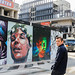 URBANA inauguration BNP - Artistes devant leurs oeuvres