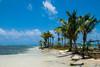 Tranquilidad - Archipiélago de San Blas (carlosbenju) Tags: naturaleza water agua mar sea oceano ocean playa beach azul blue cielo sky panama sanblas bote boat barco ship islas islands island arena palmera palm