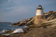 Narragansett Guardian (ProPeak Photography - Thanks for 600,000 views!) Tags: america architecture blue bluesky buildings castlehilllighthouse claibornepellnewportbridge clouds famousplace internationallandmark lighthouse narragansettbay nationalhistoriclandmark nationalregisterofhistoricplaces nature newport newporttollbridge northamerica orange places rhodeisland rocks shoreline spring touristattraction traveldestination travelandtourism usa unitedstates water yellow