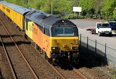 COLAS Rail 67027 - Mansfield (the mother '66' 66001) Tags: class67 colasrail 67027 67023 mansfield robinhoodline nottinghamshire rail railwys 1q68 derby derbyrtc tenterlane