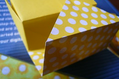 Nym Origami Box (Handmade by Deb) Tags: handmade japanese paper craft nym origami box yellow rectangular