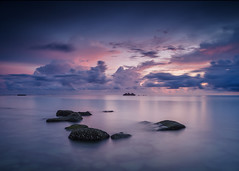 Between the rocks and the cloudy skies ahead (jenkwang) Tags: pentaxk2424mmf282428 pentax k1 landscapes sunrise sea