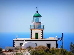 the Akrotiri lighthouse (mujepa) Tags: phare lighthouse akrotiri santorini santorin blue sea