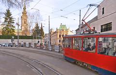 Belgrade corners (poludziber1) Tags: beograd belgrado belgrade city street tram ted red train urban serbia srbija cityscape traffic