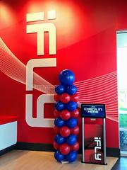 "#iFly Grand Opening (PartiLife) Tags: basics red blue grandopening bigballoons 36""balloons"